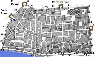 Carte du si ge d 39 orl ans en 1429 - Supermarche porte d orleans ...