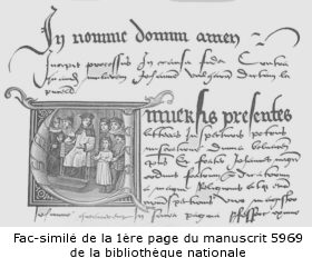 fac-similé de la copie n° 5969 du fonds latin