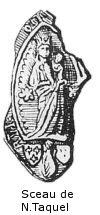 Sceau de Taquel - 1445